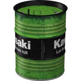 Kawasaki - Let the good times roll.  Money Box Oil Barrel.
