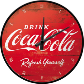 Coca Cola Refresh Yourself  Wandklok 31 cm