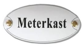 Meterkast Emaille Naambordje 10 x 5 cm Ovaal