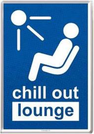 Chill out Lounge Metalen  Postcard 10 x14 cm