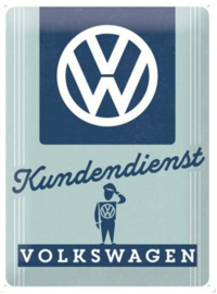 VW Kundendienst Metalen wandbord in relief 40 x 30 cm