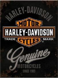 Harley Genuine. Koelkastmagneet 8 cm x 6 cm.