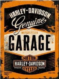 Harley Davidson Garage. Koelkastmagneet 8 cm x 6 cm.