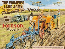 The Women's Land Army   Metalen wandbord 30 x 40 cm