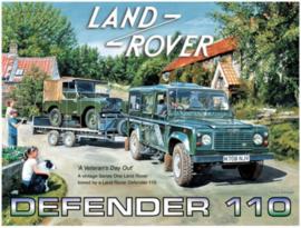 Land Rover Defender 110 Metalen wandbord 30 x 40 cm