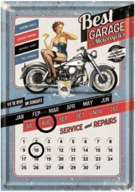 Best Garage Kalender  Metalen Postcard 10 x 14 cm.