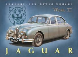 Jaguar Mark 2 Metalen wandbord 30 x 40 cm.