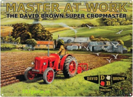 The David Brown super cropmaster  Metalen wandbord 40 x 30 cm