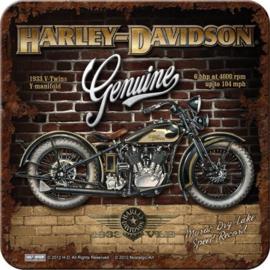 Harley Davidson Brick Wall  Onderzetters 9 x 9 cm.  5 stuks.