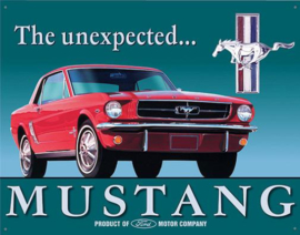 Mustang The Unexpected Metalen wandbord 31,5 x 40,5 cm.