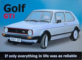 Golf GTI Metalen wandbord 30 x 40 cm