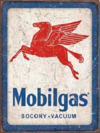 Mobilgas Metalen wandbord 31,5 x 40,5 cm.