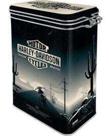 Harley Davidson Things Are Different. Bewaarblik met clipsluiting.
