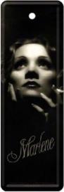 Marlene Dietrich Metalen boekenlegger 15 x 5 cm.