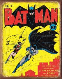 Batman No1 Cover. Metalen wandbord 31,5 x 40,5 cm.