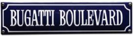 Bugatti Boulevard Emaille bordje.