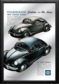Volkswagen Custom and De Luxe Spiegel 22 x 32 cm.