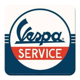 Vespa Service Onderzetters 9 x 9 cm. 5 stuks.