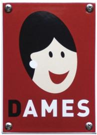 Dames Gubbels desing Emaille Toiletbordje 10 x 14 cm.