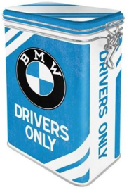 BMW Drivers Only Bewaarblik met beugelsluiting.