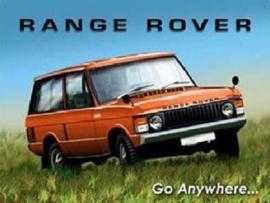 Range Rover Go Anywhere..  Metalen wandplaat 40 x 30 cm