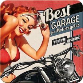 Best Garage For Motorcycles.  Onderzetters 9 x 9 cm.  5 stuks.