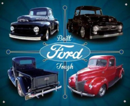 Built Ford Tough F-100  Metalen wandbord 38 x 30,5 cm.