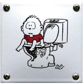 Kindertoilet Emaille Toiletbordje 10 x 10 cm.