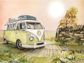 Volkswagen Camper . Metalen wandbord 30 x 41 cm.