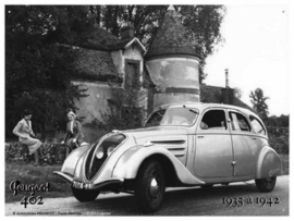 Peugeot 402 1935 a1942 Metalen wandbord 15 x 21 cm