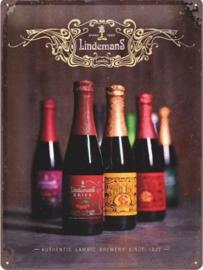 Lindemans Lambic Beers.Metalen wandbord in reliëf 30 x 40 cm.