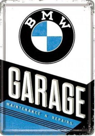 BMW Garage Metalen Postcard 10 x 14 cm