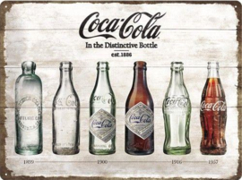 Coca Cola Timeline Metalen wandbord in relief 40 x 30 cm