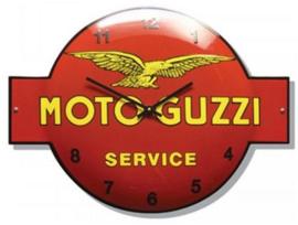 Emaille klok Moto Guzzi service.