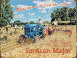 Fordson Major More power Metalen wandbord 40 x 30 cm