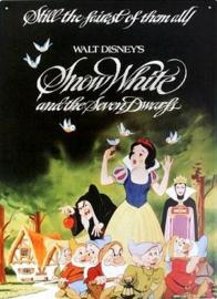 Snow White  Metalen wandbord 31,5 x 42,5 cm.