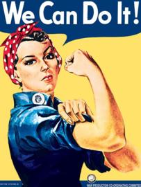 We Can Do It!.  Metalen wandbord 30 x 40 cm.