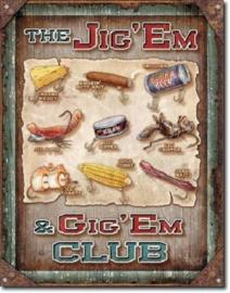 The Jig'Em Metalen wandbord 31,5 x 40,5 cm.