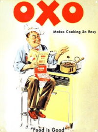 OXO Makes Cooking So Easy.  Metalen wandbord 30 x 40 cm.