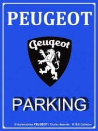 Peugeot Parking  Metalen wandbord 30 x 40 cm.