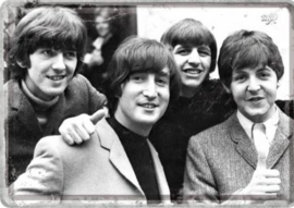 The Beatles Metalen Postcard 10  x 14 cm.
