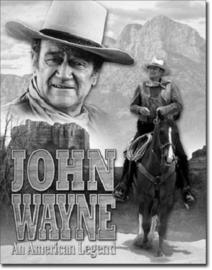 John Wayne American LegendMetalen wandbord 31,5 x 40,5 cm.