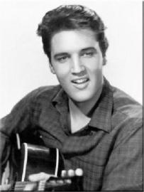 Elvis Presley Gitaar. Koelkastmagneet 8 cm x 6 cm.