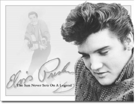 Elvis - Sun Never Sets. Metalen wandbord 31,5 x 40,5 cm.
