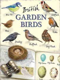 British Garden Birds..  Metalen wandbord 30 x 40 cm.