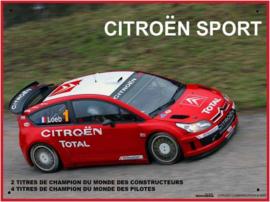 Citroen Sport Metalen wandbord 40 x 30 cm