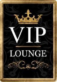 VIP Lounge  Metalen Postcard 10 x 14 cm.