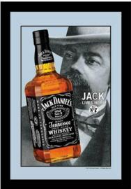 Jack Daniel's Jack Lives Here Spiegel 22 x 32 cm.