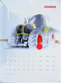 Claas kalender  Metalen wandbord in reliëf 30 x 40 cm.