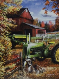 John Deere Days End Metalen wandbord 30 x 40 cm.